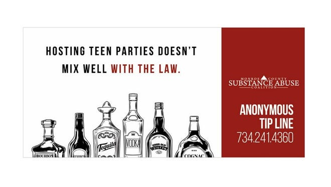 This is one of the billboards posted in the area by the Monroe County Substance Abuse Coalition.