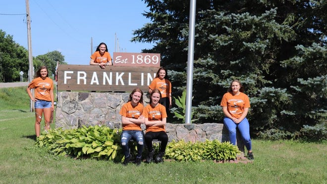 The 2020 Miss Franklin candidates are Ashley Mitlying (front left), Nicole Mitlying, Emma Bucholz, Megan Sandgren (back left), Emma Sullivan and Tiffany Robertson. The event is being held this Friday (July 24) at the community center.