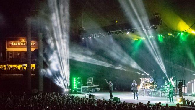 A concert at Ozark Amphitheater.