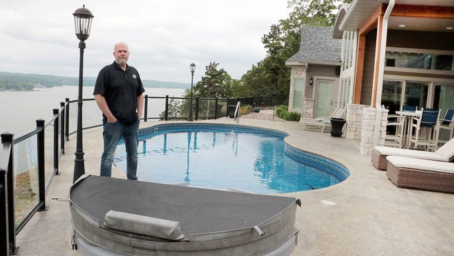Tony Otto, owner of Otto Construction, at a 3,600-square foot home he built in The Estates at Palisades Highlands southwest of Osage Beach.