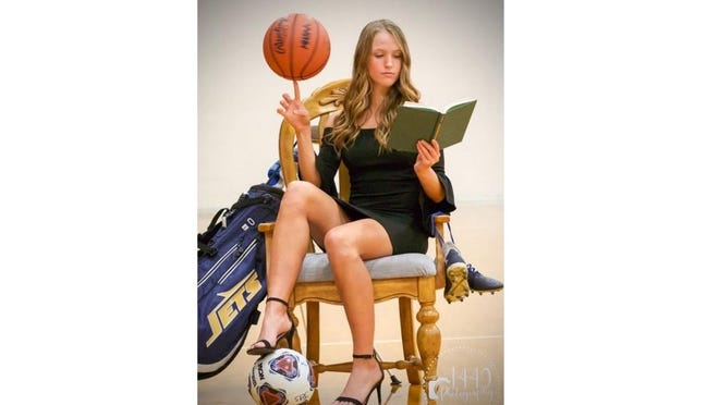 Hadley Gratz was a standout in basketball, soccer and golf at Airport High School. She will play basketball at Siena Heights University in Adrian.