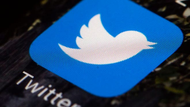 FILE - This April 26, 2017, file photo shows the Twitter app icon on a mobile phone in Philadelphia. A tech-focused civil liberties group on Tuesday, June 2, 2020, sued to block President Donald Trump's executive order that seeks to regulate social media, saying it violates the First Amendment and chills speech. Trump's order, signed in late May, could allow more lawsuits against internet companies like Twitter and Facebook for what their users post, tweet and stream.