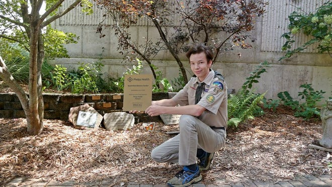 Wil Baur, a 15-year-old Scout with Troop 81 of Rolla, completed a restoration of the Bond Clinic Memorial Garden as an Eagle Scout project.