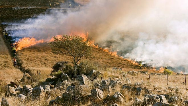 Fire Marshal Tim Bean said in a news release that under the current dry conditions, even a small outdoor fire can get out of control and spread rapidly.