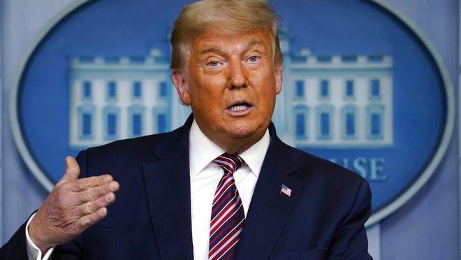 President Donald Trump speaks at the White House, Thursday, Nov. 5, 2020, in Washington.