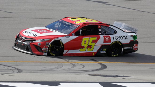 FILE - In this July 12, 2020, file photo, Christopher Bell (95) drives during a NASCAR Cup Series auto race in Sparta, Ky. Leavine Family Racing, which owns the Cup car driven by Christopher Bell, announced Tuesday, Aug. 4, 2020, it had sold its charter and will exit NASCAR at the end of the season.