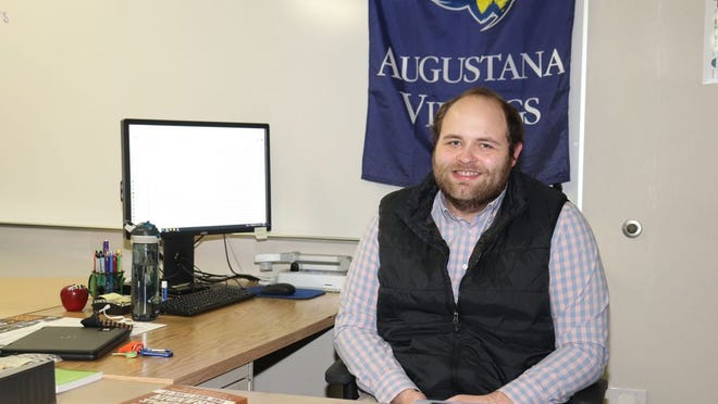 Damian Dagel is working with students in Grades 9-12 as part of the special education program.