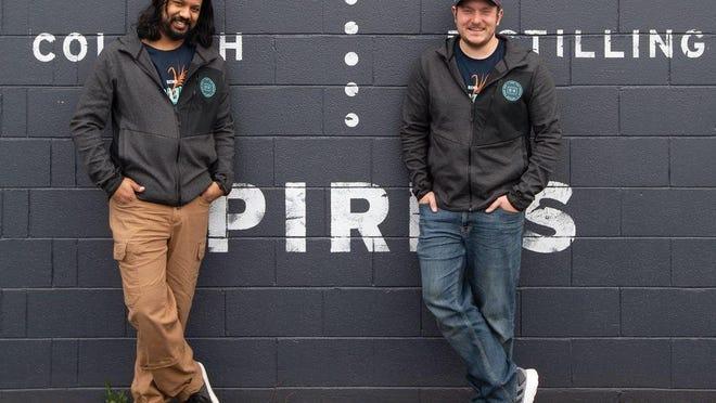 Echo Spirits co-founders Nikhil Sharoff, left, and Joe Bidinger