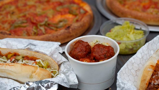 Assorted dishes from Meatball Mafia