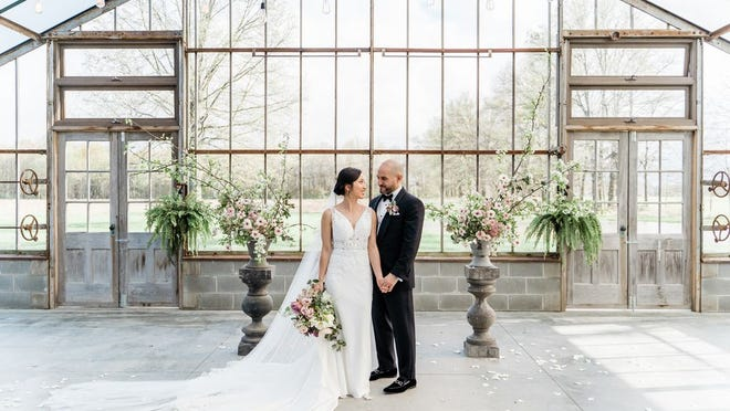 Trang and Balsam Kamar were married April 20, 2019 at Jorgensen Farms in New Albany.