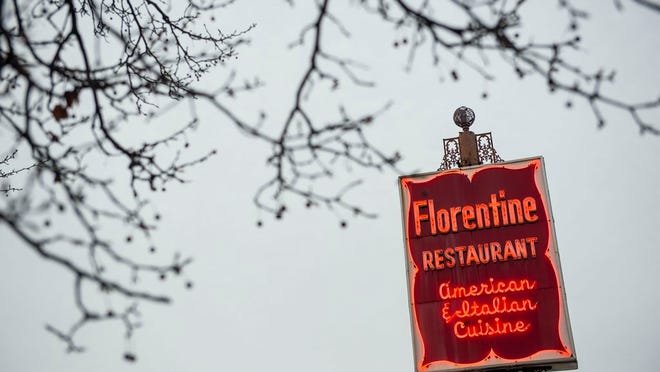 The neon sign for Florentine Restaurant as seen on Dec. 15, 2016, the day before the Broad Street landmark closed. The Italian restaurant is returning in a ghost kitchen format.