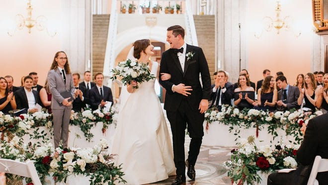 Alexandra Wells and Evan Webb were married Nov. 2, 2019, at the Ohio Statehouse
