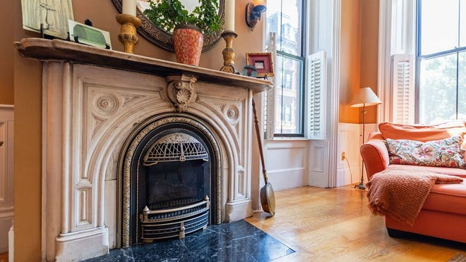 The living room includes this stately gas fireplace which will help keep those upcoming cold nights warm and comfortable.