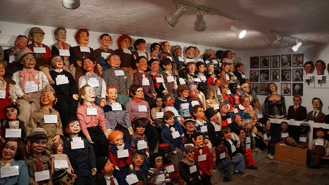 Dummies line the walls at Vent Haven in Fort Mitchell, Kentucky. Good luck sleeping tonight.
