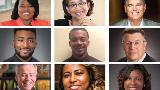 First row: Courtnee Carrigan, Barb Smoot, Nick Akins; Second row: Moses Hayelom, Marlon Platt, Kirt Walker; Third row: Dr. Hal Paz, Freweini Alemayoh, Ebony Igwebuike-Tye