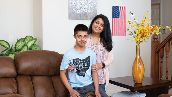 Dipti Patel and her son, Mrunal