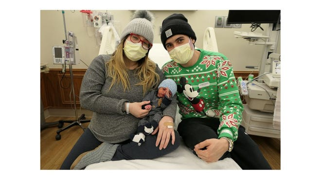 Nathan G. Ortiz Rivera was the first baby of 2021 born at ProMedica Monroe Regional Hospital.