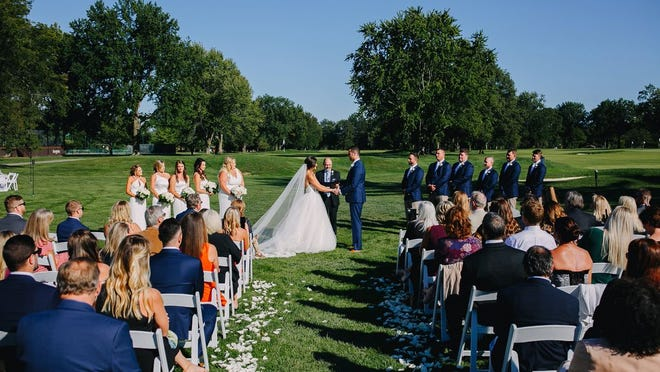 Mackenzie and Jim Hirst opted for a lower-risk outdoor ceremony and reception at Brookside Golf & Country Club on Sept. 19.
