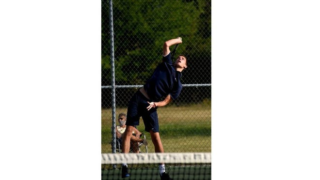 A powerful serve helped Jake Leone of Airport win the Monroe County Region Boys Tennis Player of the Year Award for the third straight season.