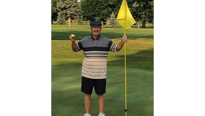 Dundee resident Fred Nabozny, 80, recently recorded his first hole-in-one at Dundee Golf Club.