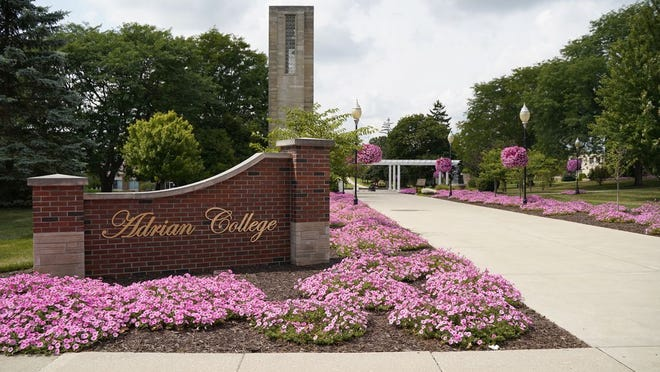 The entrance to the campus of Adrian College, facing South Madison Street, is pictured in this September 1 file photo. The college has once again been named a top regional college in the Midwest as ranked by U.S. News & World Report.