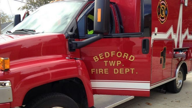 A Bedford Township Fire Department vehicle.