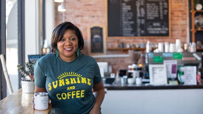 Chakeyla Anderson, the new owner of Bottoms Up Coffee in Franklinton