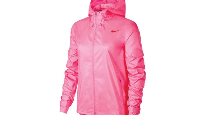 Women's Nike essential water repellent running jacket, $90 at North Face