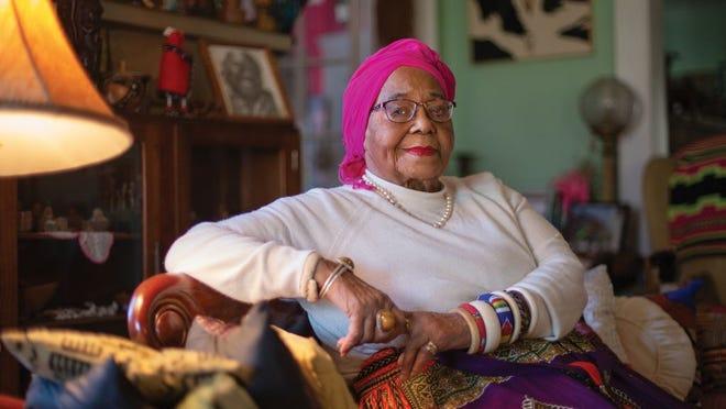 Ann B. Walker in her Franklin Park home