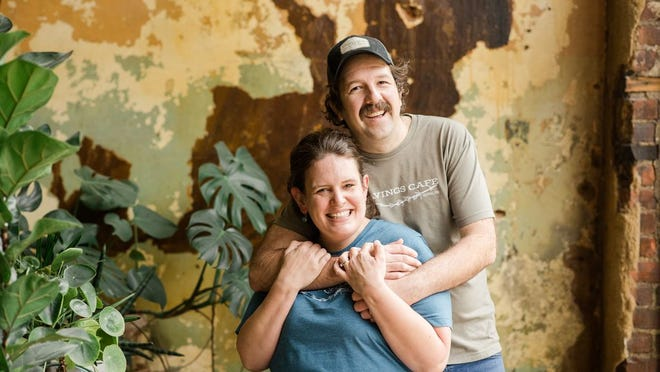 Matt and Lindsey Tewanger at Cravings Café