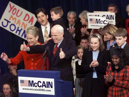Presidential candidate Arizona Sen. John McCain and