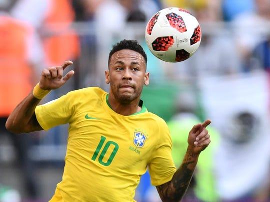 Neymar, estrella de Brasil.