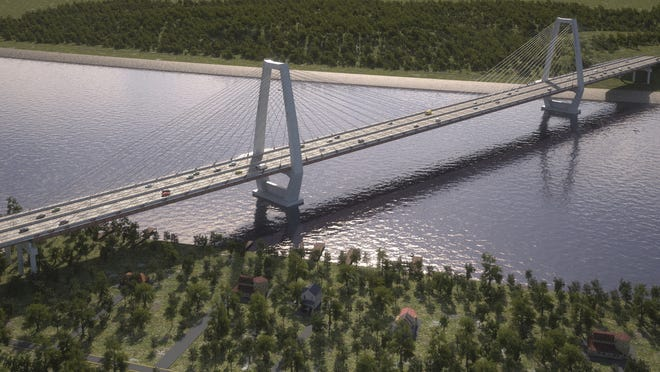 The East End Bridge is scheduled to open in 2016.