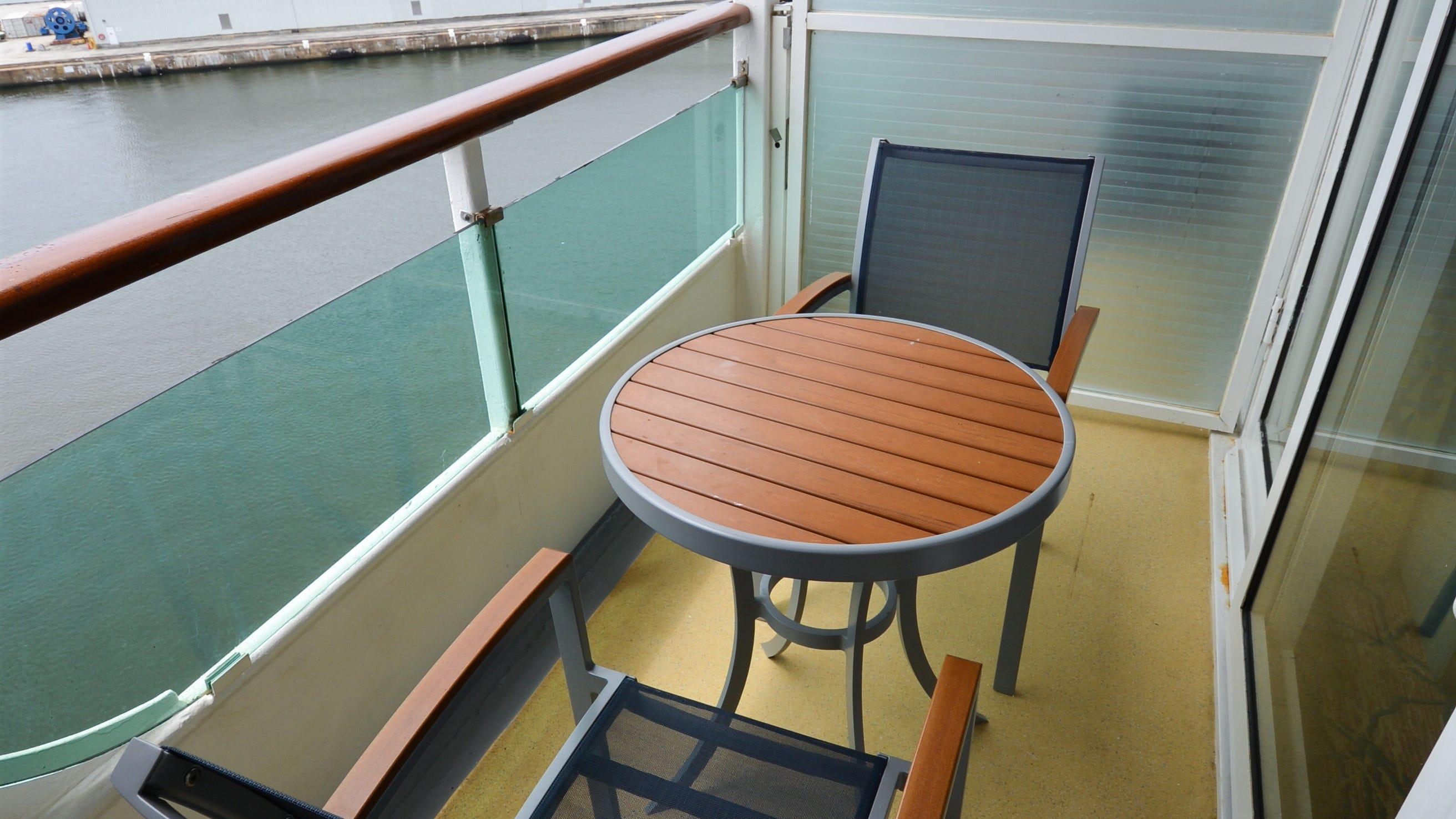 Of 597 Ocean View cabins, 216 come with balconies.