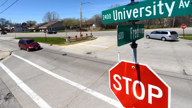 Improved access, possibly including a roundabout at the intersection of University Avenue and Fred Street, would be sought by business development nearby.