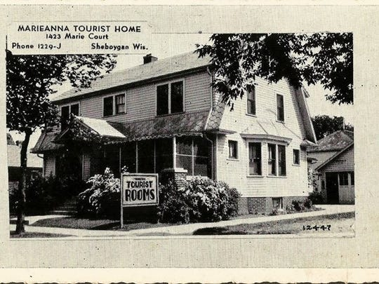 Marieanna Tourist Home, 1423 Marie Court, Sheboygan. Proprietors: Mr. and Mrs. H.O. Krepsky. Inspected and modern in every way. Junction 141 and 32.