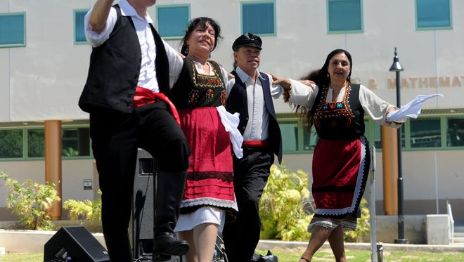 The Gypsy Folk Ensemble of Los Angeles dances at last year's Diversity in Culture Festival at Ventura College.