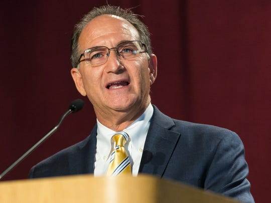 Miami-Dade County, Florida, Criminal Court Judge Steven Leifman speaks during the Domenici Public Policy Conference on Wednesday, Sept. 14, 2016 at the Las Cruces Convention Center.
