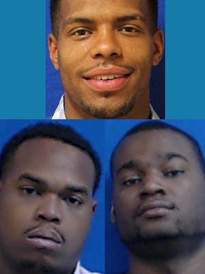 The three people charged with murder and attempted murder in the Charlotte shootings: Kurtis Primm, Isiah Primm and Jonathan Hughes.