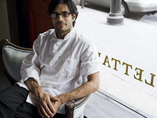 Chef Akhtar Nawab took a rare moment to relax at his