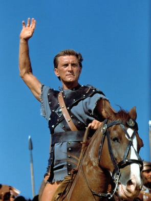 Kirk Douglas in the 1960 motion picture 'Spartacus.'
