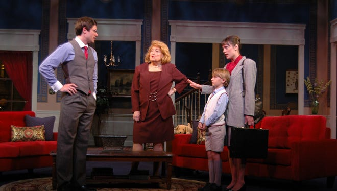 "A family political faceoff brings dire consequences in ""The City of Conversation"" with (from left) Chris Proud, Karen Mason Riss, Jase McCommon and Shannon Walton on the Lohrey Stage at Theatre Memphis, Oct. 21-Nov. 6."