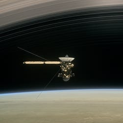 NASA's doomed Cassini makes first perilous pass between Saturn and its rings