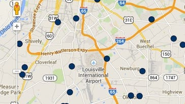 Louisville-metro crime report map