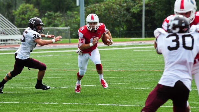 Quarterback Braden Black has guided Olivet College to a 4-0 start this season.