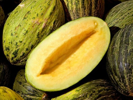 The Christmas melon is not as sweet as other melons,