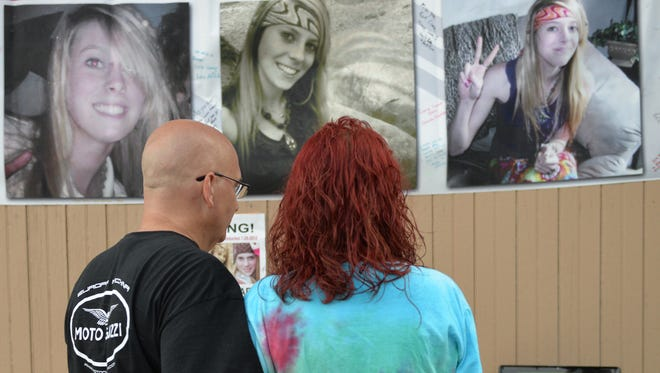 Amy Revely and Steven Matrese were among the friends and family of Kortne Stouffer, who gathered in Grantville on Friday evening, July 29, 2016, to remember the young Palmyra woman who disappeared without a trace in July 2012. The event included music, a bonfire, and the release of 25 balloons in honor of Stouffer, who is 25 this year.  Anyone with information about Stouffer can contact Mike Dipalo, the head investigator on the case, at the Lebanon County District Attorney's office, 717-228-4403. There is also a Facebook page, Kortne Stouffer – Remember Me, that has information and photos of Stouffer, as well as contact information for anyone who may be able to provide tips on her location.