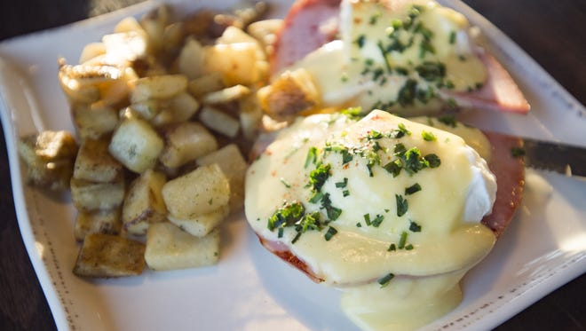Specialty eggs Benedicts are popular Mother's Day brunch menu items.