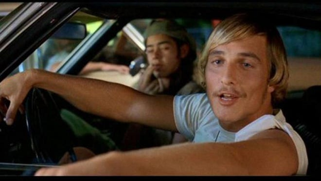 "Matthew McConaughey, foreground, and Rory Cochrane in ""Dazed and Confused."""