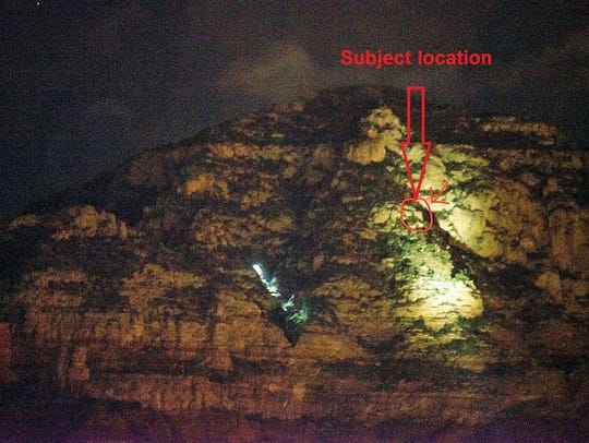 Photo shows where a teen hiker became stranded and